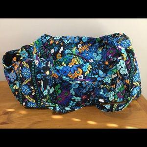 Brand new Vera Bradley large duffel in midnight bl